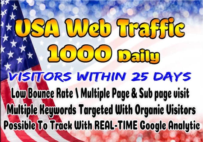 Super targeted USA traffic real Google organic web visitors