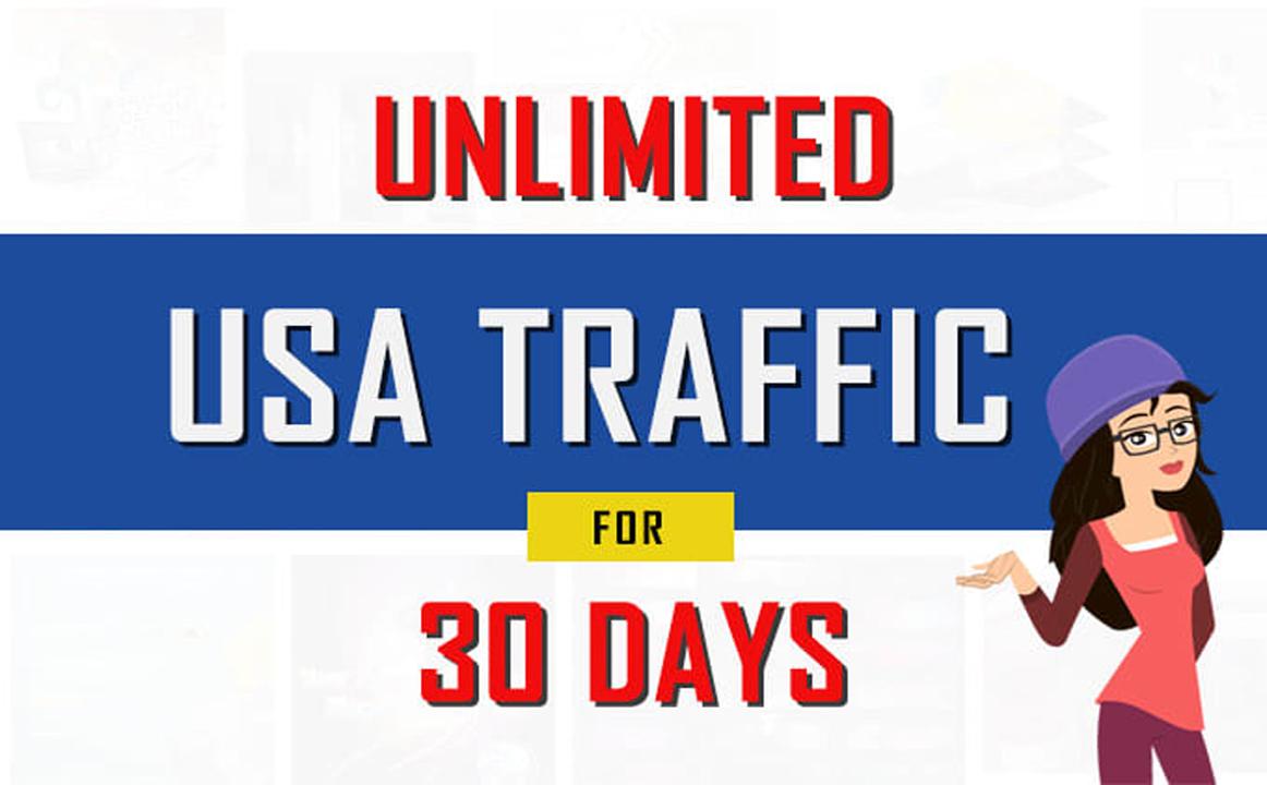 Unlimited USA Organic Google Traffic for 30 days