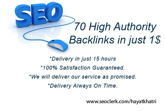 I will create 70 High authority backlinks in just one day