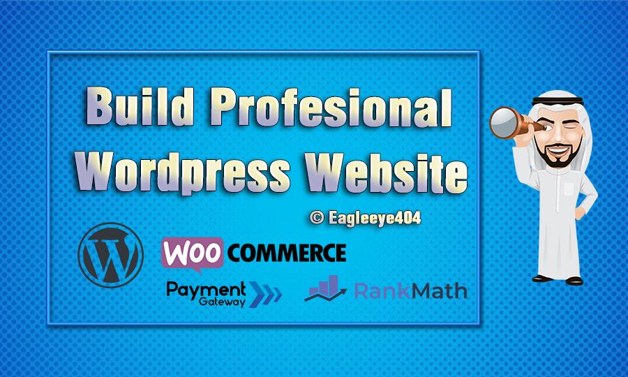I will Build professional wordpress website design or Woocommerce