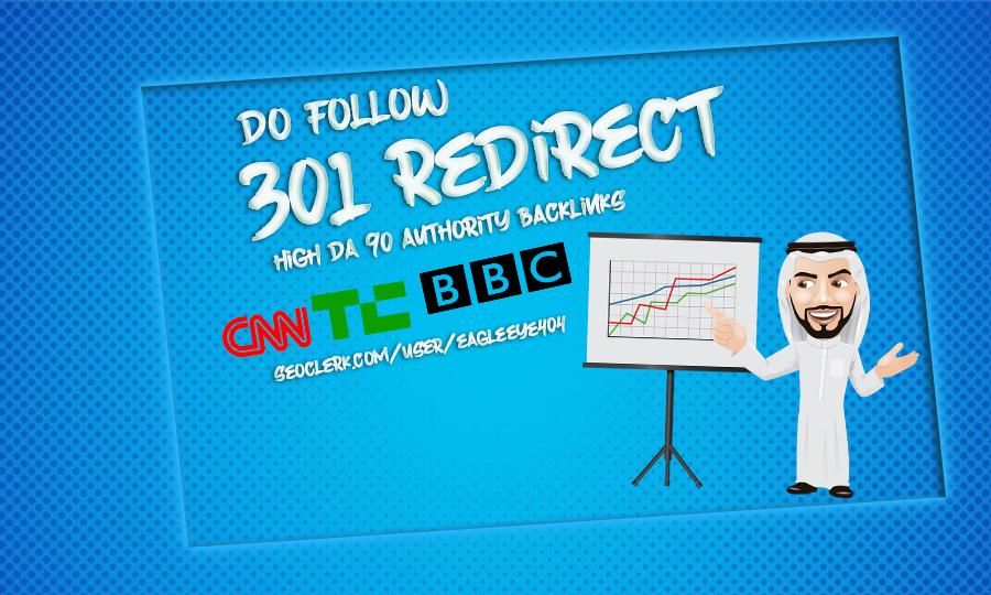 Dofollow 301 redirect high da 90 authority backlink From Cnn, Nytime, BBC, techcrunch,wired