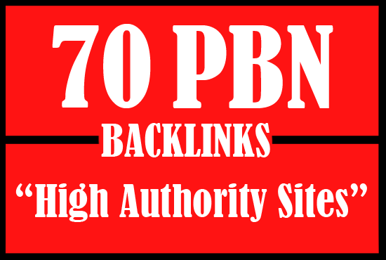I will create 70 permanent pbn backlinks on high authority sites