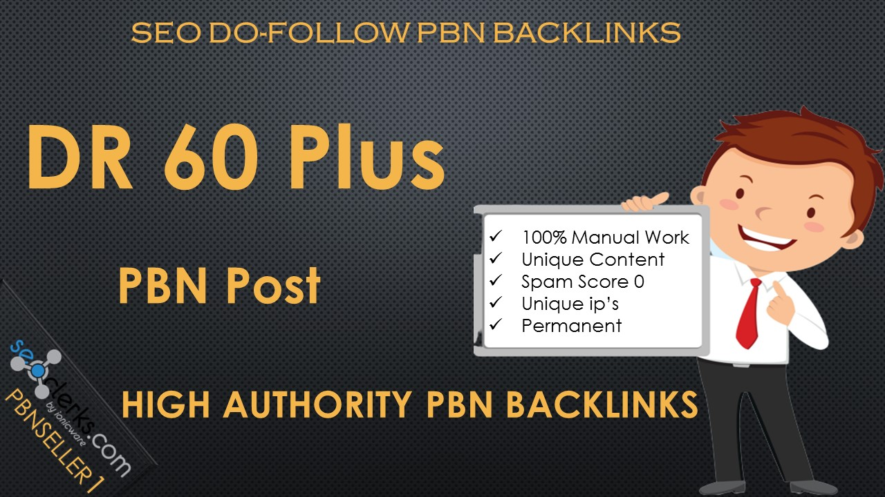 Permanent 2 HIgh DR 60+ SEO Dofollow Homepsge Permanent PBN Backlinks