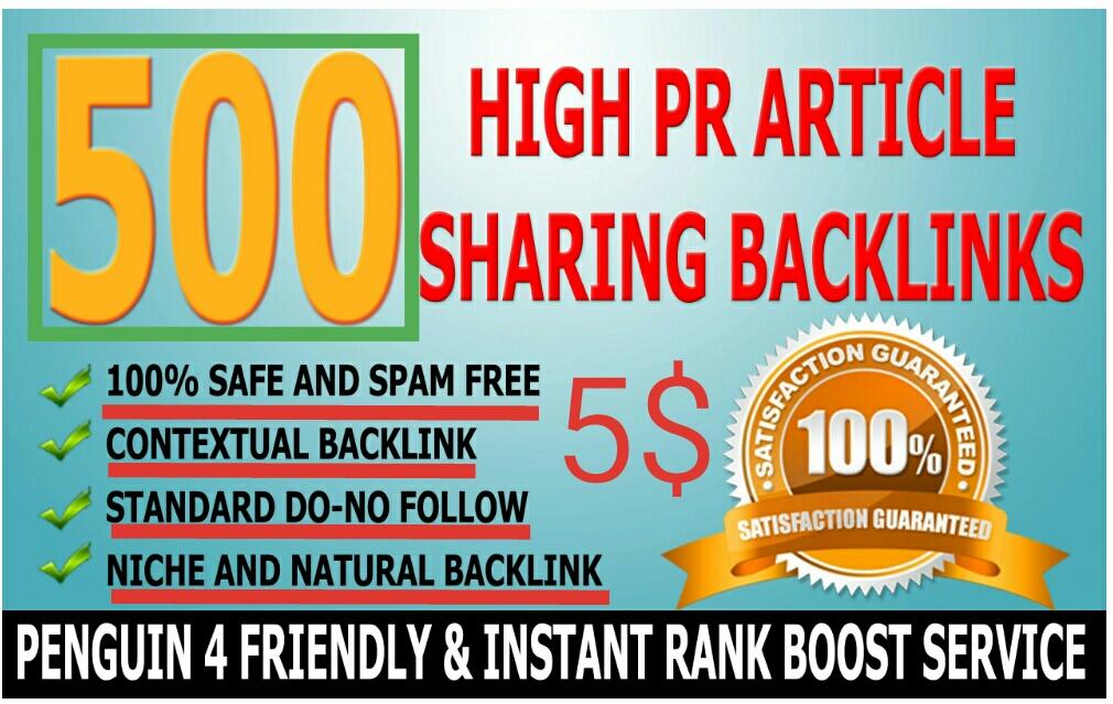 I will create 500 Do-follow High PR4-PR7 Backlinks for your website