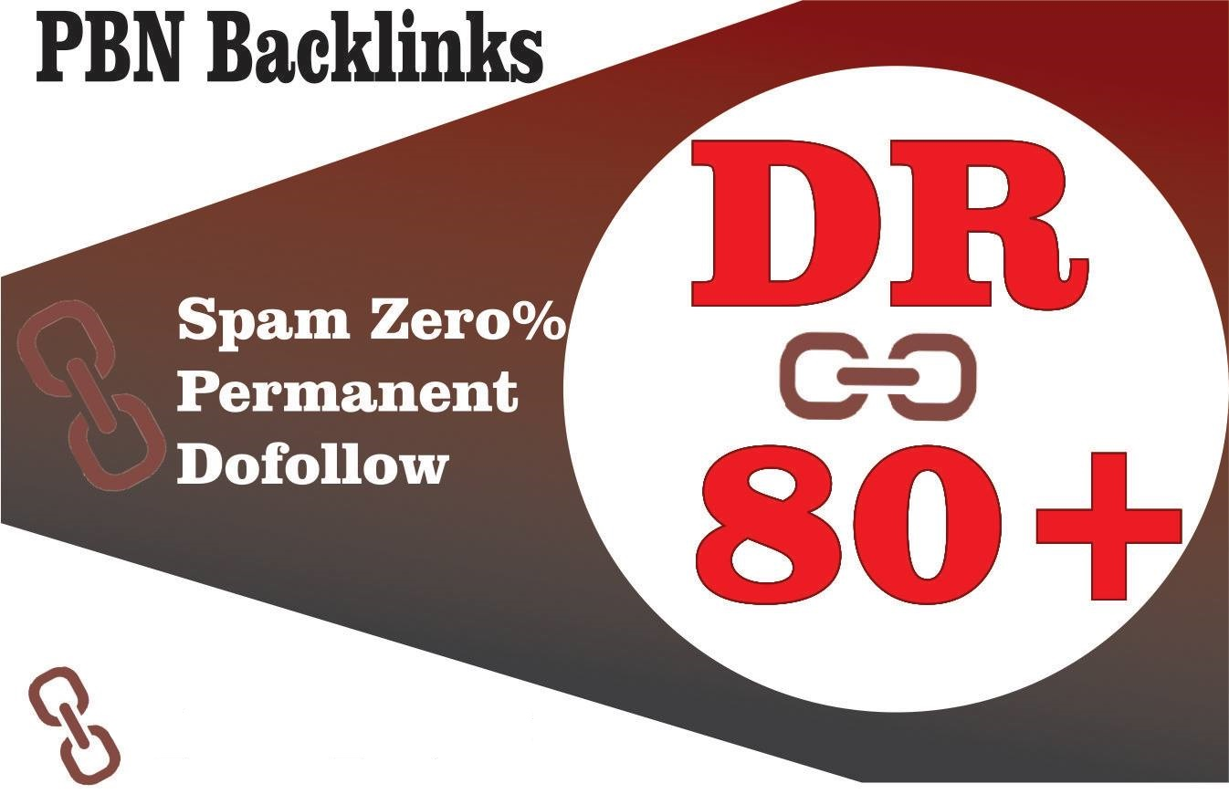 Boost Your Ranking On Google using 1 High Authority DR 80 HomePage Dofollow PBN Backlinks