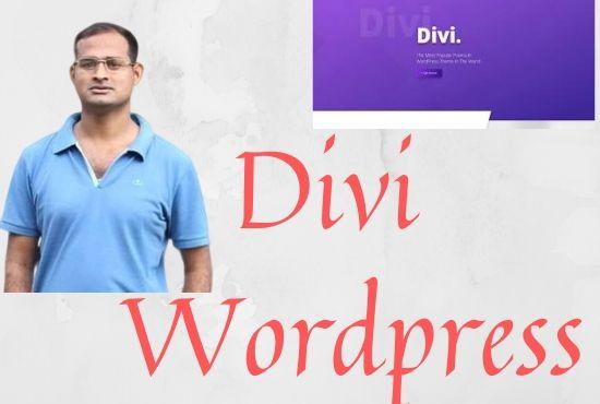 I will design responsive Divi theme word press website