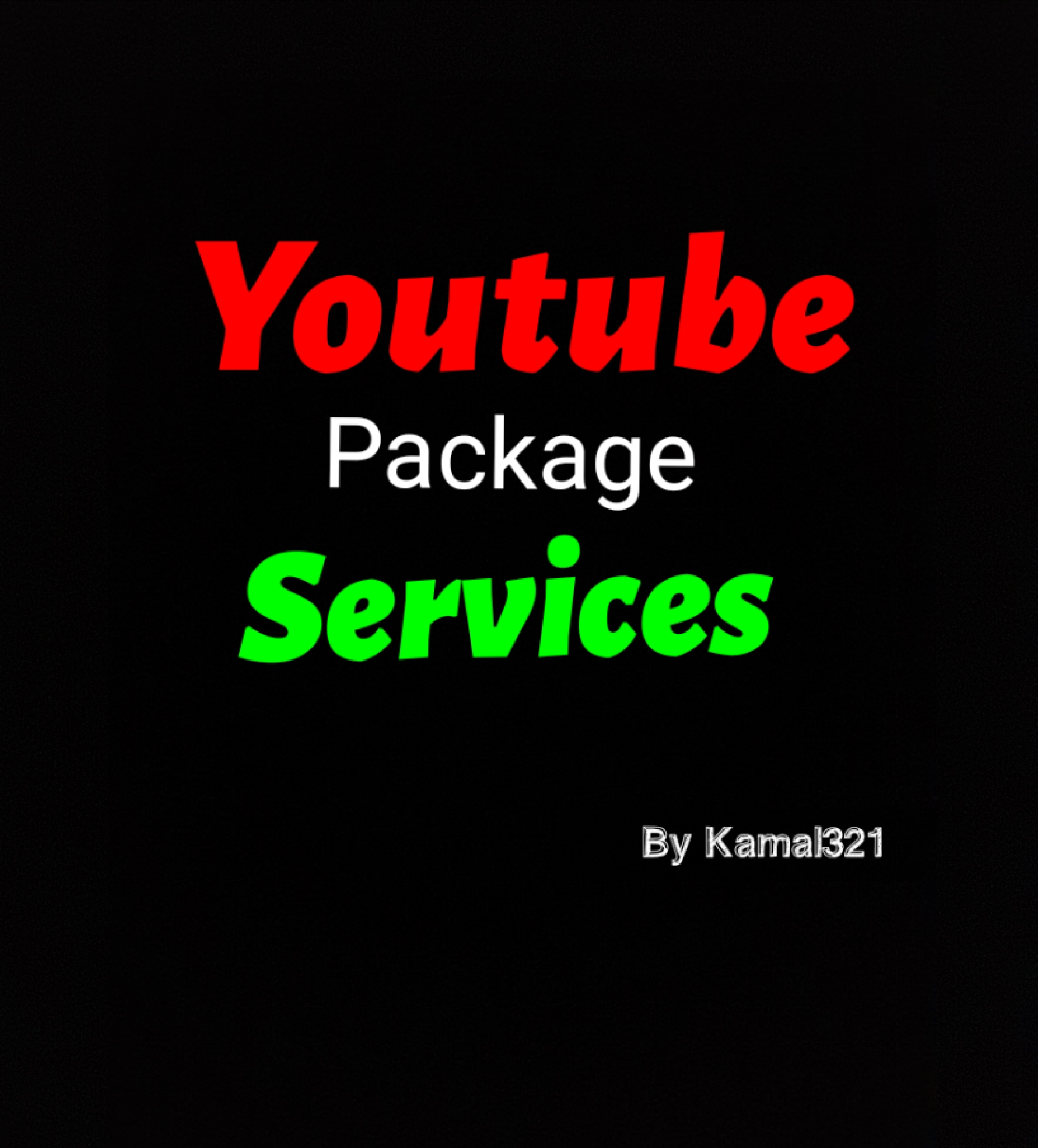 Youtube package services real & fast delivery