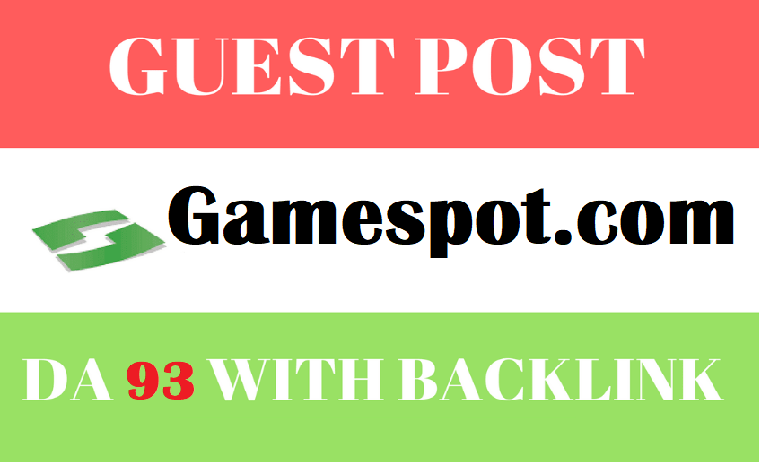 Guest post on Gaming Niche DA93 Gamespot. com