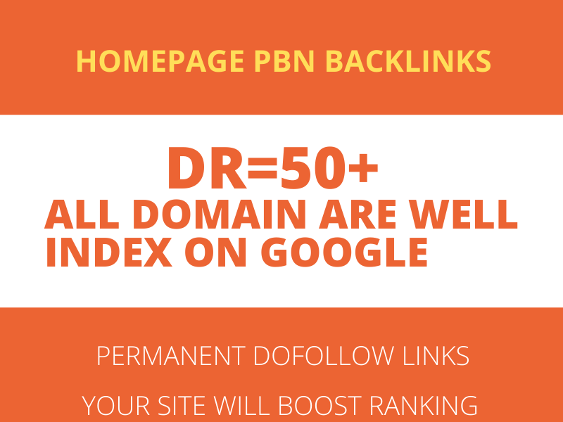 Build 10 High DR 50 HomePage PBN Backlinks - Dofollow Quality Links for