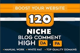 Provide 120 High Quality Niche Relevant Blog Comments Backlinks Dofollow