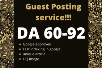 i can provide 20 guest post high quality sites