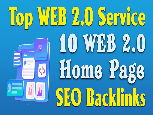 Manually Do 10 Web2.0 Subdomain Homepage Web 2.0 Backlinks