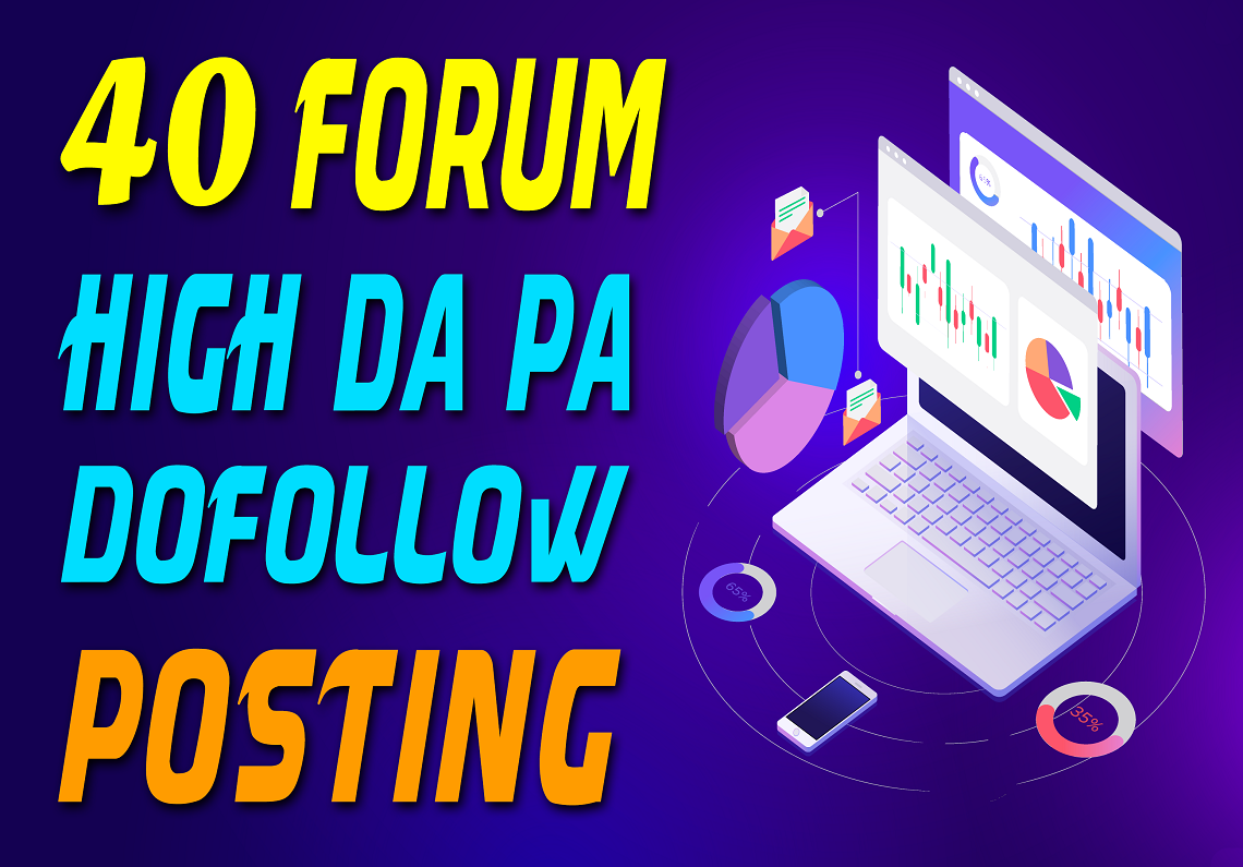 I will Manually Do 40 High Quality Forum Posting SEO Backlinks