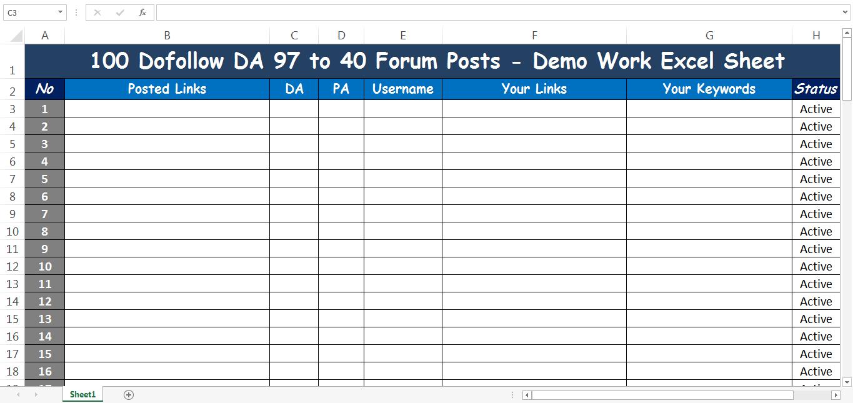 I will Manually Do DA 97-40 100 High Quality Forum Posting SEO Backlinks