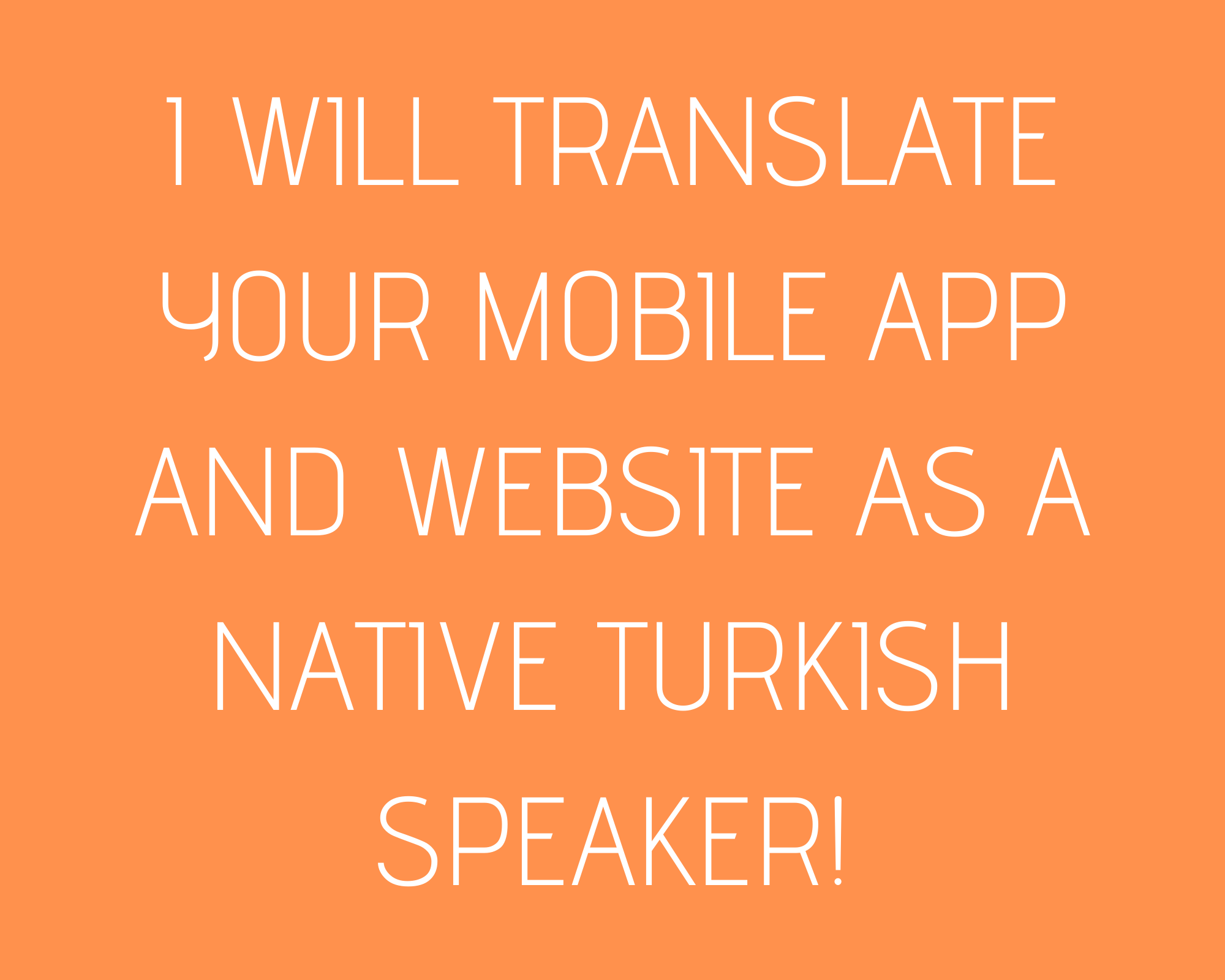 Translating English to Turkish