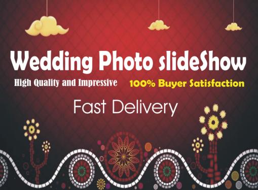 I will make wedding slideshow engagement any