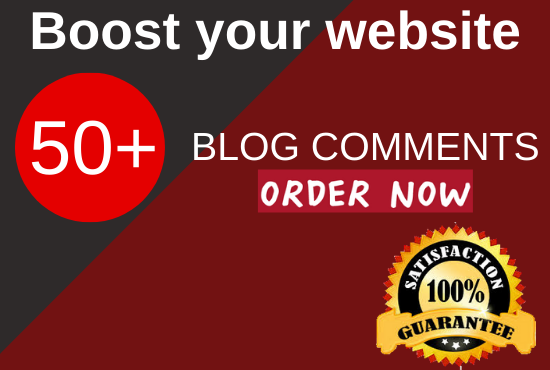 Do 50 manually niche relevant blog comments