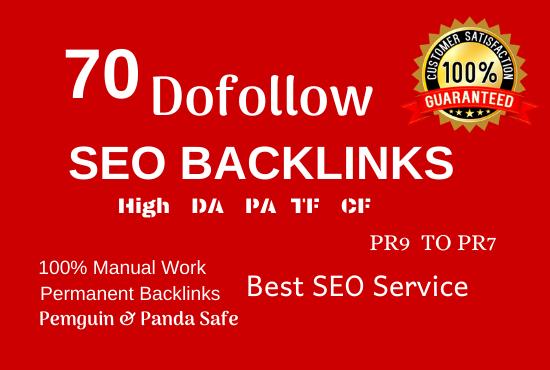 manually create 70 pr9 da 90 dofollow profile backlinks