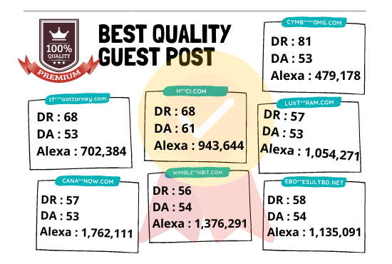 Top quality 10 guest post from 10 sites