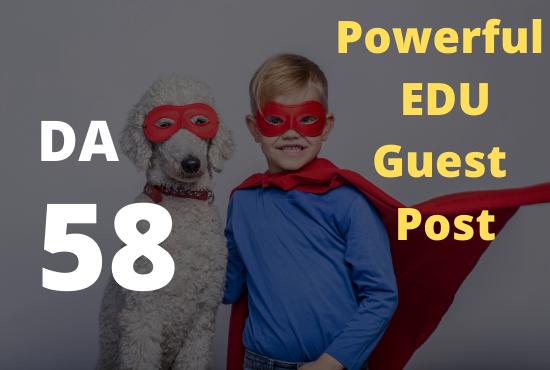 Power EDU guest post DA 58 Index within 1 day