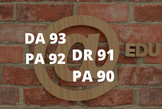 Excellent DA 93 Edu guest post - index within 1 days