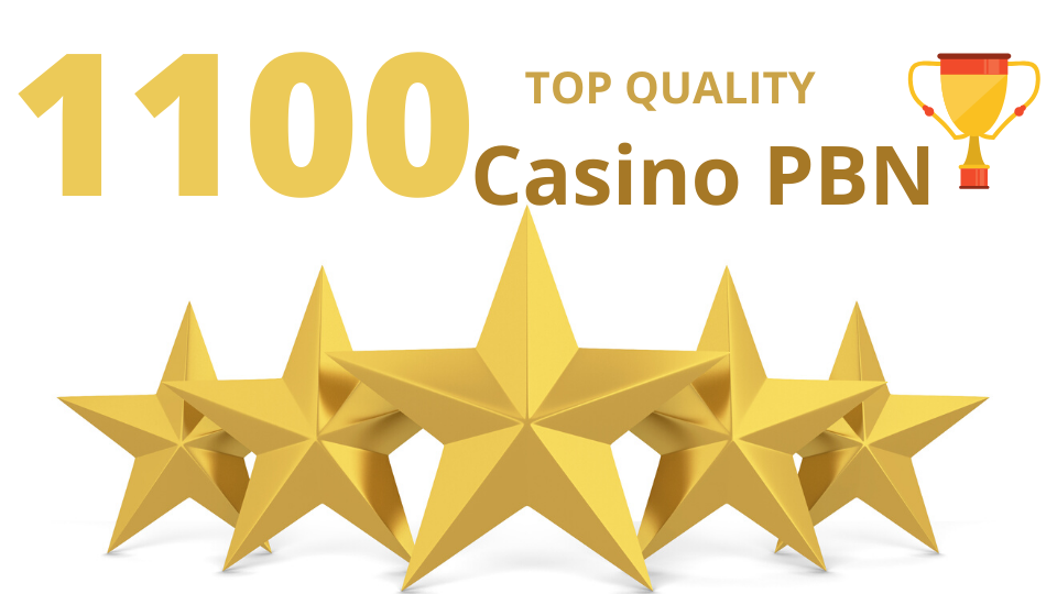 Excellent quality 1100 Casino/Gambling/Poker/Betting web 2.0 Pbn from 1100 unique sites