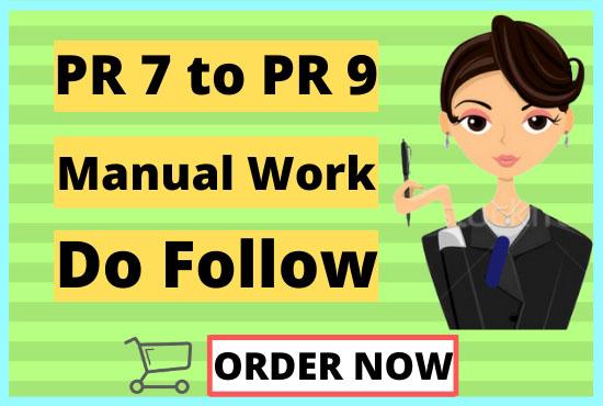 I will Manually Do 30 PR 7 TO PR 9 Backlinks.
