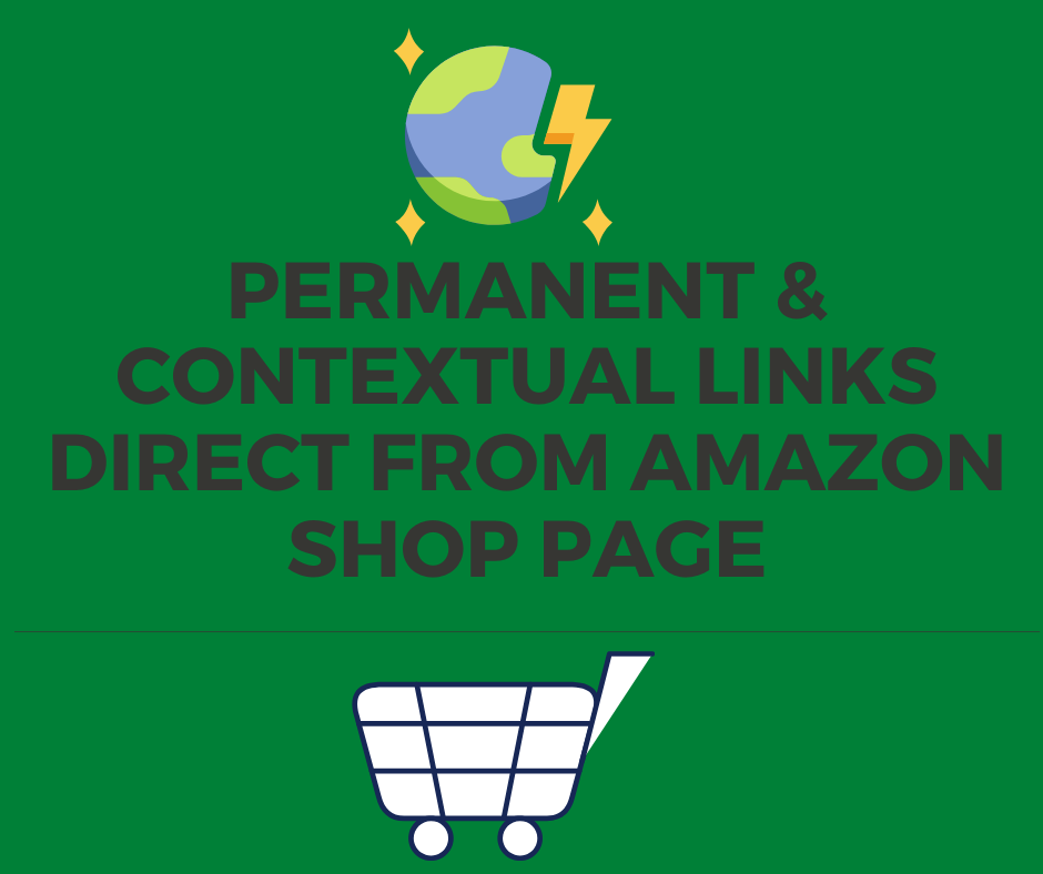 11 Amazon Do-Follow Backlink (DA 98) Direct From Amazon Shopping Pages