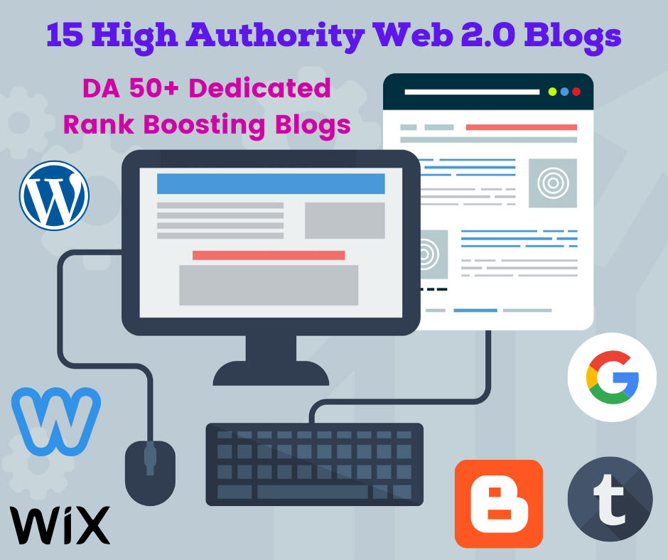 15 Unique High DA Web 2.0 Blogs