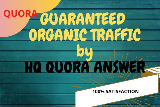 I will provide you 20 organic QUORA answer