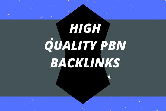 I will provide 10 High TF CF Permanent PBN Backlinks.