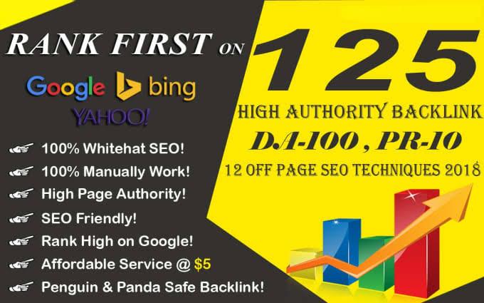 High quality 125High PR Web 2.0 Profile Backlinks