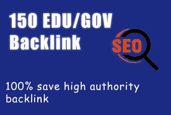 create 150 high PR edu and gov backlinks for your website ranking on google