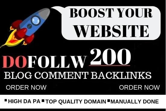 I will provide 200 dofollow backlinks