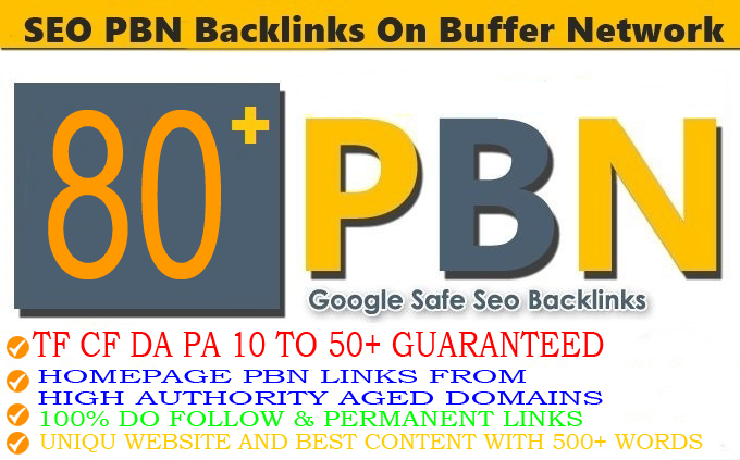 80+ Permanent PBN Backlinks With High TF CF DA PA Do-follow Links Homepage Unique website