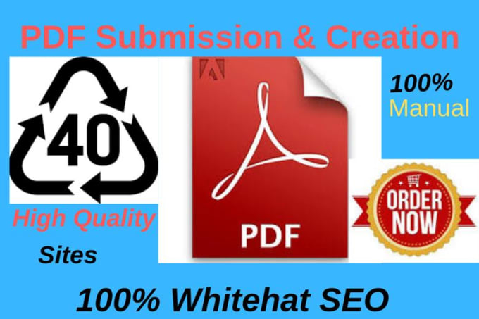 I will manually submit your article or PDF to top 40 document submission sites