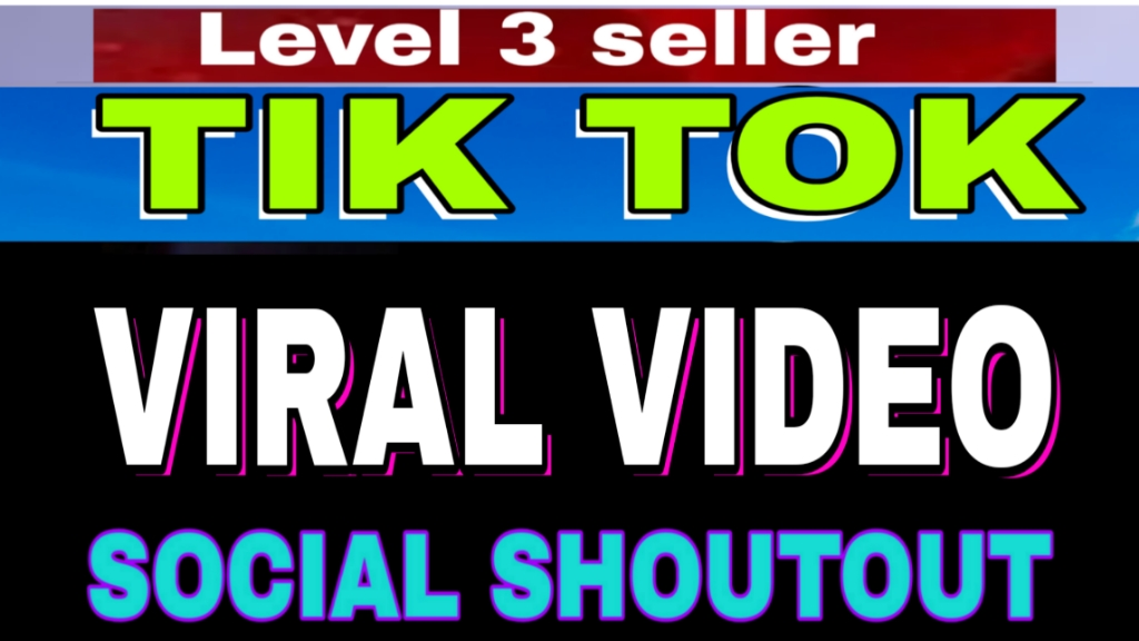 Tiktok Video Promotion Social Shoutout