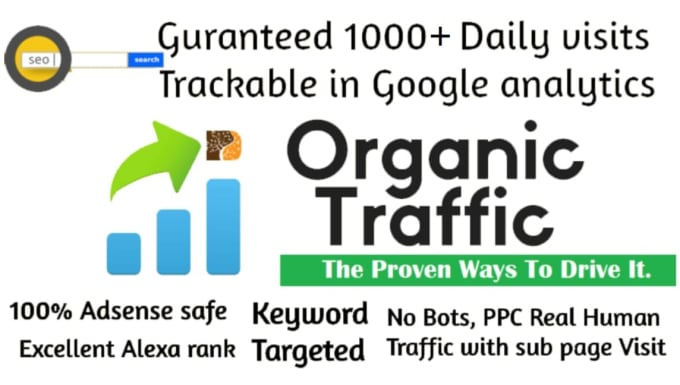 I will drive organic google search traffic using targeted keywords