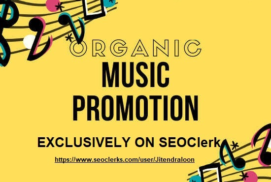 I will do real organic music promotion for your track