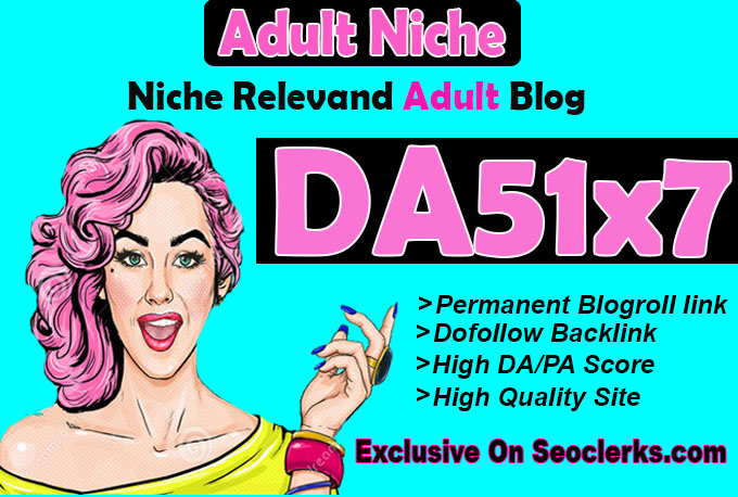 give backlink da51x7 site adult blogroll permanent