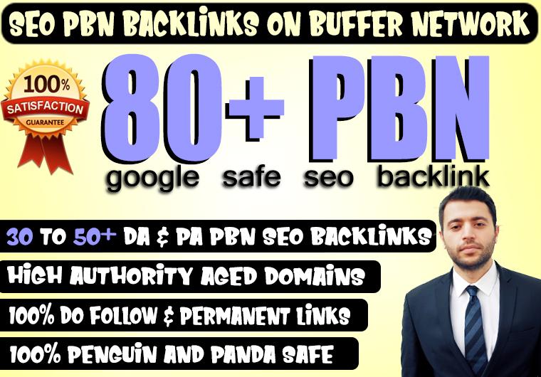 Build 80+ Permanent PBN Backlinks With High DA PA TF CF Dofollow backLinks