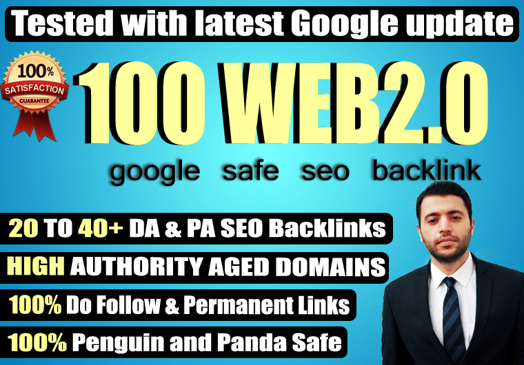 Provide 100+ Web 2.0 High TF CF DA PA 30-70 Dofollow Backlink to rank your site