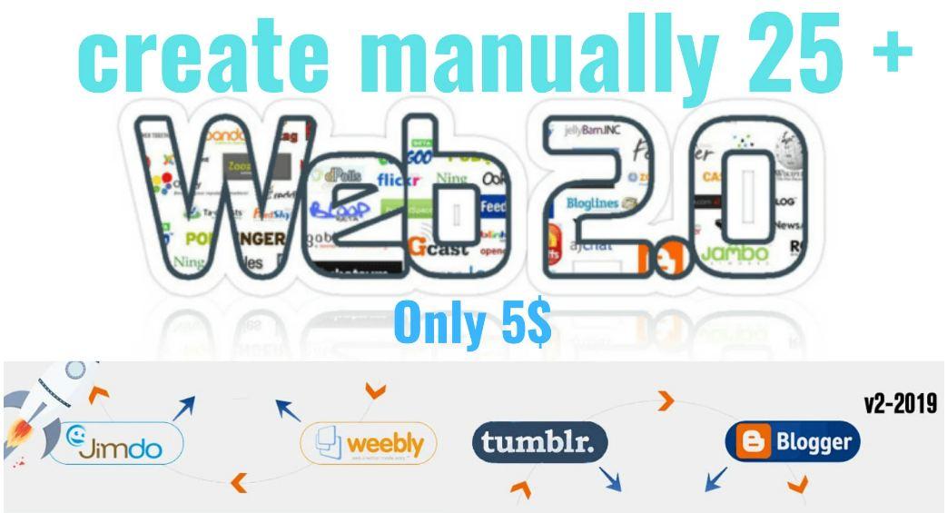 I will build 25 authority 70 plus DA PA web 2 0 backlinks
