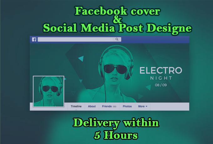 I will design cover of Facebook,  social media post,  YouTube banner,  Instagram cover & post