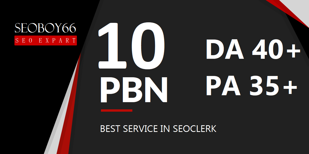 Great quality 10 web 2.0 PBN in 10 unique domain