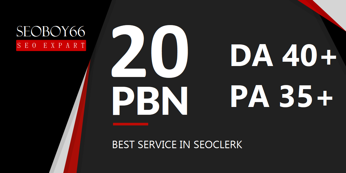 Great quality 20 web 2.0 PBN in 20 unique domain