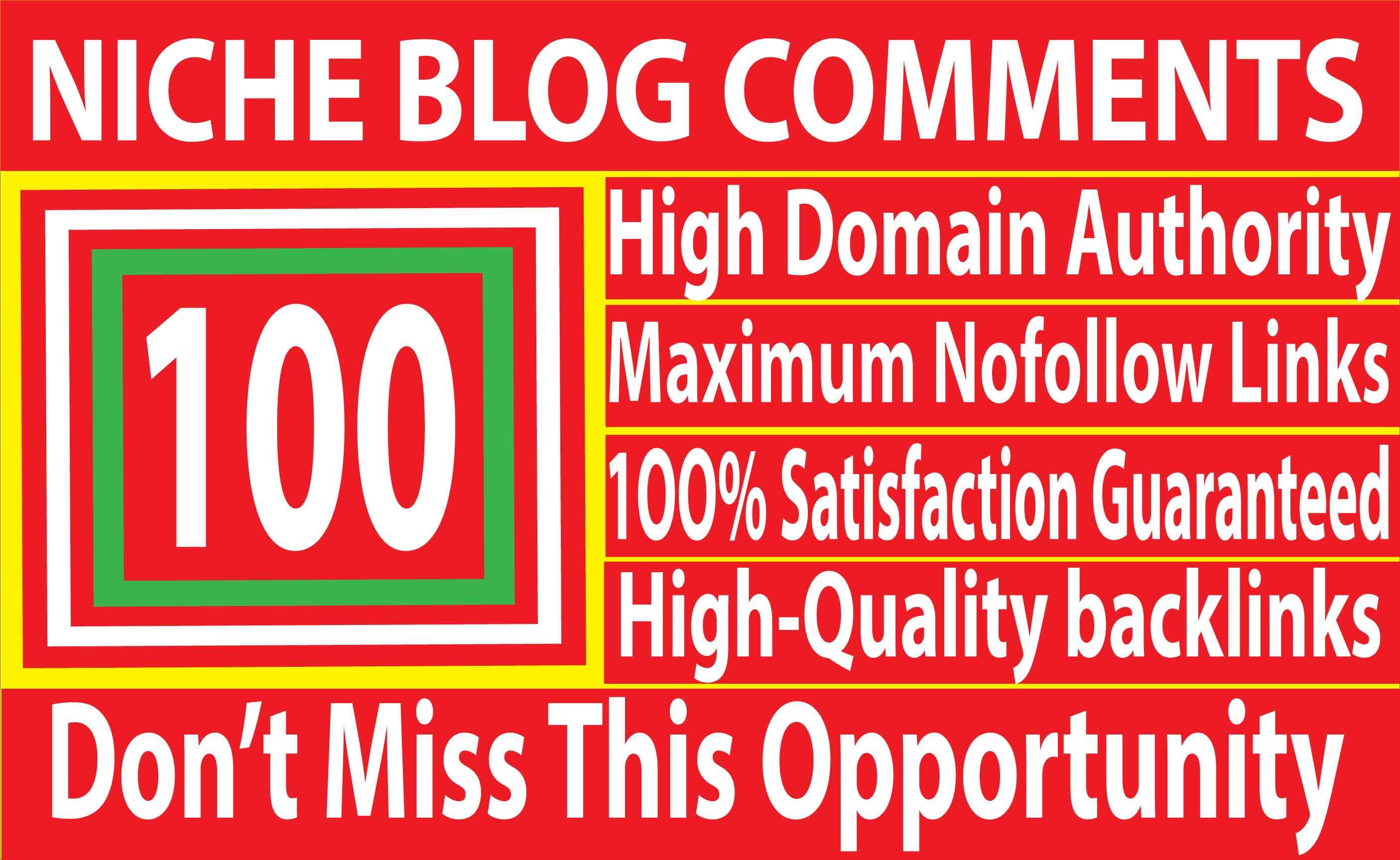 I will Do 100 Niche Relevant Blog Comments Backlinks on High DA 80