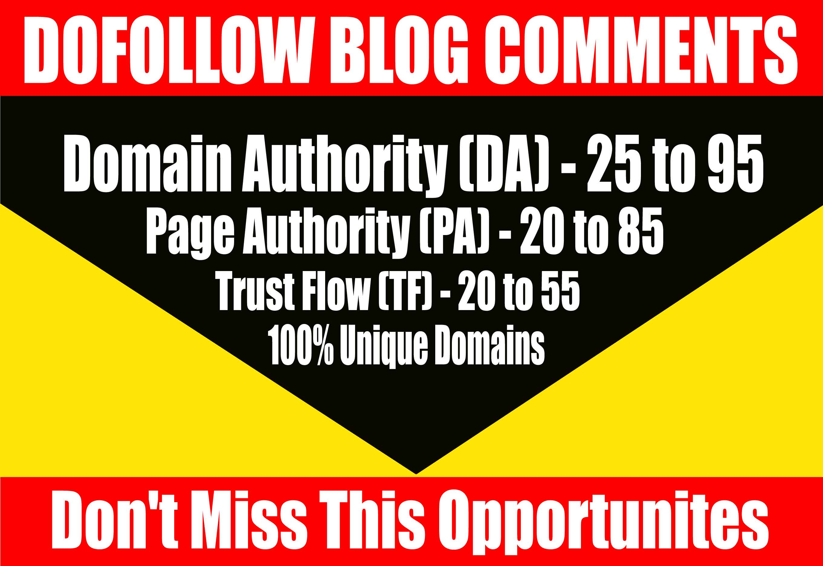 Do 50 Dofollow Blog Comments on High Quality Blogs