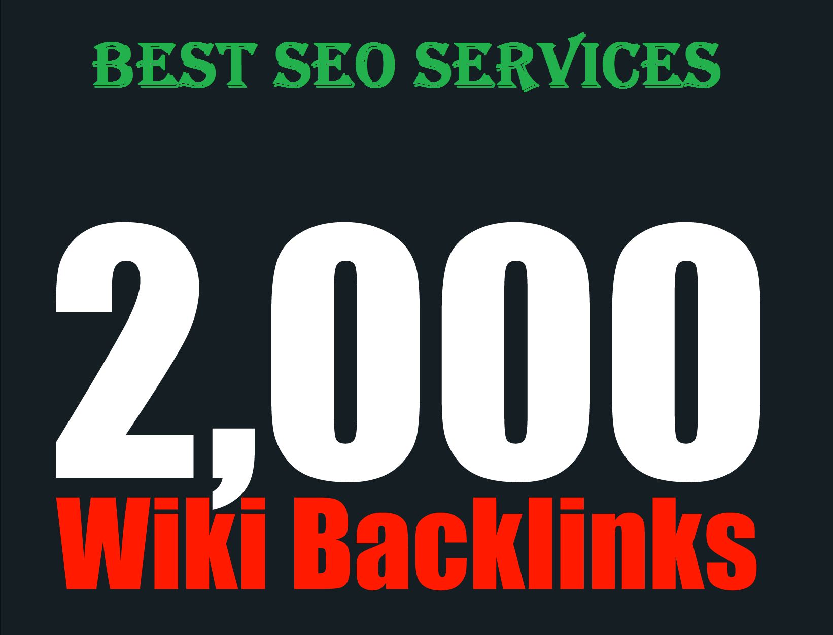 Provide more than 2000 high quality Wiki Backlinks best for your seo