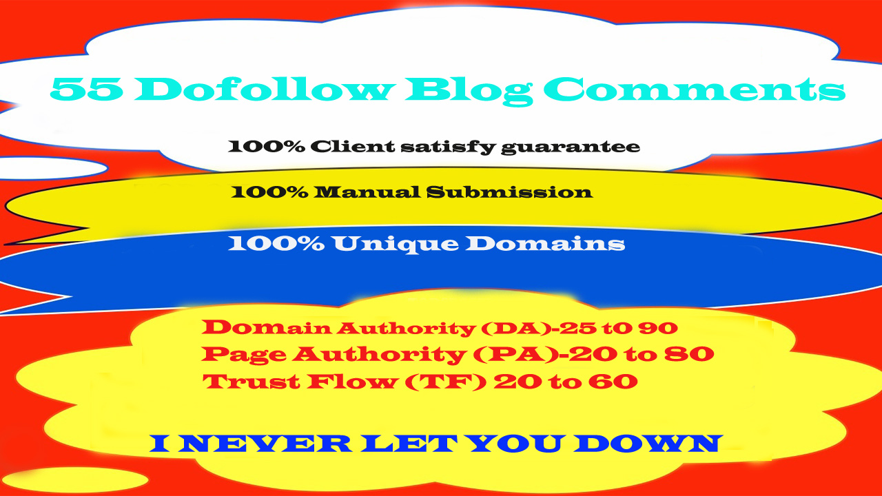 Build 55 Dofollow Blog Comments on High DA Domains